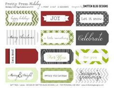Smitten Roundup Continues: Holiday Free Printables