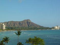 The view of Diamond Head from Halekulani.