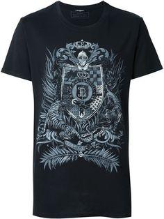 BALMAIN Printed T-Shirt. #balmain #cloth #t-shirt