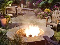 Casual seating allows close proximity to the fire on cool evenings, or can move a comfortable distance away on warm summer nights