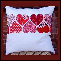 Sewing Pillows Patchwork Ideas Ideas For 2019 Applique Cushions, Sewing Pillows, Diy Pillows, Applique Quilts, Decorative Pillows, Throw Pillows, Pillow Ideas, Patchwork Pillow, Quilted Pillow