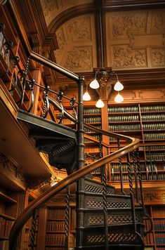 19 Totally Magical Libraries To Visit Before You Die - Osgoode Hall, Toronto Magical Library, Beautiful Library, Oh The Places You'll Go, Places To Travel, Quebec Montreal, Home Libraries, Public Libraries, Destinations, To Infinity And Beyond