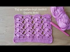 Crochet Edging Patterns, Easy Knitting Patterns, Crochet Stitches, Baby Cardigan Knitting Pattern, Baby Knitting, Knitting Needles, Crochet Disney, Crochet Baby Booties, Crochet Videos