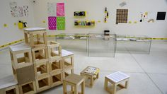 Stackable DIY stools.  Reading Forms – Exhibiting Graphic Design Exhibitions