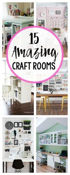 Craft Room Inspiration and Ideas