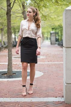 Express lace top, business professional look - click to see description of the whole outfit