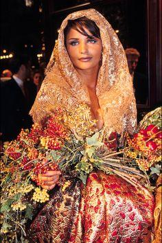 Dior. What else?   Helena Christensen in Dior   - HarpersBAZAAR.com