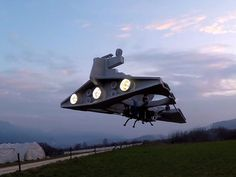 "Imperial Star Destroyer drone patrols the skies above France | A French maker who makes incredible ""Star Wars"" drones is back with another one. This time, he flies a modded Imperial Star Destroyer sure to strike fear into the heart of any Rebel in its path. (+videos)"