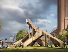 Escalera 'Endless', realizada por dRMM Architects, en los jardines de la Tate Modern de Londres.