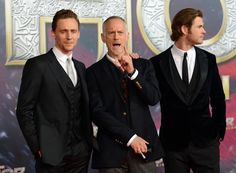 Tom Hiddleston, Chris Hemsworth and Alan Taylor attend THOR: The Dark Kingdom Germany premiere at CineStar on October 27, 2013 in Berlin, Germany [HQ]