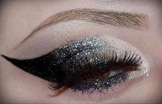 #eye #makeup #shimmer #black