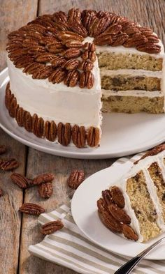 Aunt Cora's Famous Pecan Cake-If you like buttered pecan ice cream you will love Chef Eddy's take on Aunt Cora's Famous Pecan Cake. This luscious layer cake recipe first appeared in one of our vintage Aunt Cora's cookbooks. Chef Eddy swapped the milk for buttermilk and whipped the egg whites to create an even richer taste and a delicate, super-moist texture that will make this cake a new classic. This sweet treat would be perfect for the holiday season and a delicious ending to any Christmas…