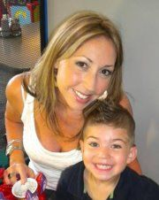 My daughter and grandson.