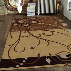 Get My Rugs Hand-Tufted Brown Area Rug Rug Size: 4' x 6'