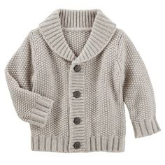Toddler Boy Shawl Collar Cardigan from OshKosh B'gosh. Shop clothing & accessories from a trusted name in kids, toddlers, and baby clothes.OshKosh BGosh Baby Boys Shawl Collar Cardigan 12 Months ** A lot more information might be located at the image Toddler Boy Fashion, Toddler Boy Outfits, Toddler Boys, Kids Outfits, Baby Boys, Fashion Kids, Toddler Cardigan, Kids Knitting Patterns, Shawl Collar Cardigan