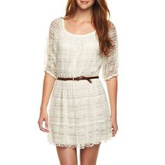 Belted Lace Dress                          $30