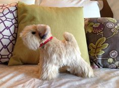 One of a kind, hand made, plush Soft Coated Wheaten terrier
