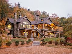 Massive mountain home.