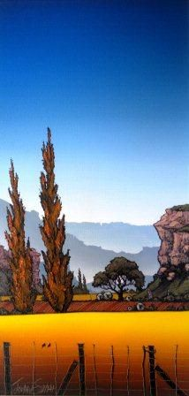 freestate landscape johan smith at alice art Watercolor Landscape, Abstract Landscape, Landscape Paintings, African Paintings, South African Artists, Mountain Art, Encaustic Art, Naive Art, Tree Art
