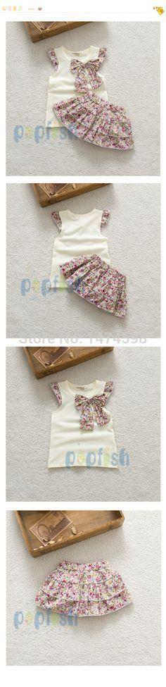 2015 niños del verano nuevos falda del traje ropa del bebé fija puntos puntos falda falda de la flor de las niñas ropa princesa SkirtRetail en Conjuntos de Ro