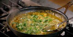 Wauw! Deze Thaise rode curry van Jamie Oliver met garnalen is geweldig!