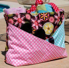 PUL waterproof beach bag