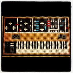 Moog synthesizer perler beads by monkeproggs