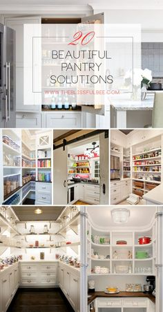 20 Beautiful Pantry Solutions via The Blissful Bee Blog
