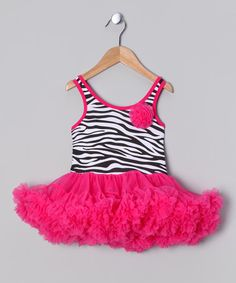 Take a look at this Hot Pink Zebra Tutu Dress - Infant, Toddler & Girls by Ella's Tutus on #zulily today!