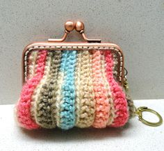 Supplies, accessories earth colors crocheted small coins purse handmade by Artefyk tagt team. $18.90, via Etsy.