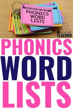 Are you looking for the Ultimate List of Phonics words? Phonics word lists make teaching and practicing phonics so much easier! Every reading teacher needs this ultimate set of phonics word lists to help make phonics instruction a breeze! Use them in your first grade classroom right at your fingertips! Phonics Rules, Phonics Words, Teaching Phonics, Phonics Activities, Teaching Strategies, Preschool Learning, Reading Activities, First Grade Reading, First Grade Classroom