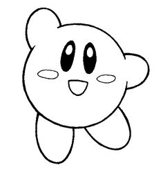 Kirby coloring page or template