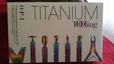 OPI Titanium Manicure/Pedicure Tooling Kit/Wallet - NEW SEALED #OPI