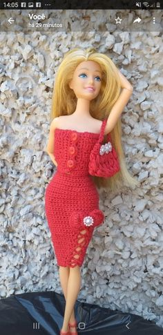 Fashion Clothes, Fashion Outfits, Bari, Barbie Dolls, Vintage, Style, Crochet Barbie Clothes, Doll Dresses, Crochet Doll Clothes
