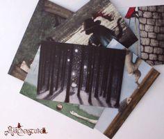 Zauberhaftes Märchenpostkarten-4er-Set von Märchenstube auf DaWanda.com