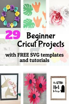 29 Cricut Projects for Beginners with Free SVG Templates - DOMESTIC HEIGHTS - - Free beginners projects and tutorials with SVG files. Starter projects for Cricut newbies with cut files. Projects For Kids, Craft Projects, Crafts For Kids, Craft Ideas, Decor Ideas, Cricut Craft Room, Cricut Vinyl, Paper Crafts, Diy Crafts