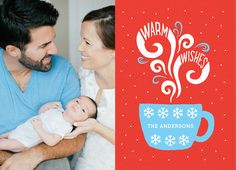 Warm Wishes Mug card by Postable on Postable.com Holiday Photo Cards, Holiday Photos, Christmas Ideas, Xmas, Card Ideas, Gift Ideas, Jingle Bells, Tis The Season, Holidays And Events