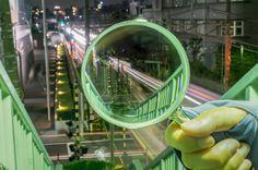 Takashi Kitajima's View of Tokyo Through a Magnifying Glass Webby Awards, Project 4, Magnifying Glass, Asylum, Magazine Art, Bokeh, Collage Art, Pixel Art, Glass Art
