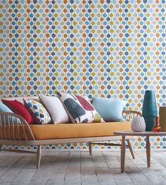 Scandi inspired wallpaper and fabric designs | Taimi Wallpaper by Scion | Jane Clayton
