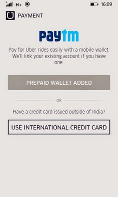 Paytm wallet option added into Uber windows app