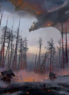 m Rangers on Horseback conifer forest road Dragon Hunters by Findara McAvinchey