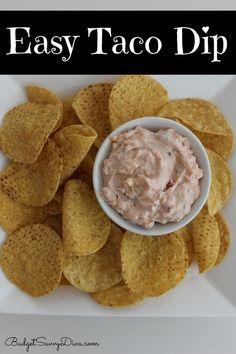 Easy Taco Dip Recipe | Budget Savvy Diva