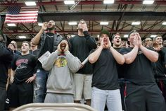 Students cheer on their beloved Mules at #TeamUCM night