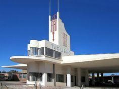 The Fiat Tagliero Building in Asmara, capital city of Eritrea, is a Futurist Style service station completed in 1938 and designed by the Italian architect Giuseppe Pettazzi.