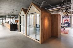 """d+z architecten + projectmanagers transformed a warehouse into an office space where the goal was to make it feel """"nicer than at home"""". Industrial Office Design, Modern Office Design, Workplace Design, Office Interior Design, Warehouse Office, Warehouse Design, Office Fit Out, Stylish Office, Corporate Interiors"""
