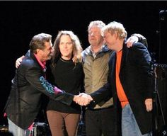 To a good night, the last 4 and the fabulous 4 .....Glenn Frey & Don Henley started the Eagles in 1971, with Randy Meisner and Bernie Leadon. Joe joined the band in 1975, ( replacing Bernie ) and Timothy joined in 1977 ( replacing Randy) They remained together until Glenn's death in 2016.