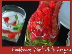 Raspberry Mint White Sangria