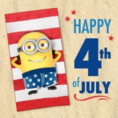 Happy Of July of july independence day happy of july minions of july quotes of july quote Evil Minions, Cute Minions, Minions Despicable Me, Minion Stuff, Funny Minion, Minion Humor, Happy Fourth Of July, 4th Of July, February