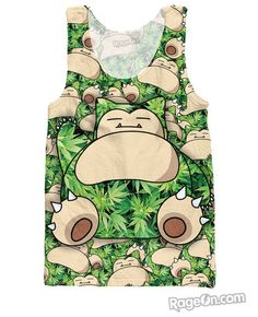 Snorlax All Over Print Tank Top - Rage On! - The World's Largest All-Over Print Online Retailer