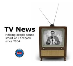 The News: Helping people sound smart on Facebook since 2004. #watchtv, #whatson, #canadiantvnews, #status Tv Funny, Helping People, Facebook, News